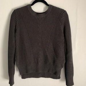 H&M dark grey cropped knit sweater
